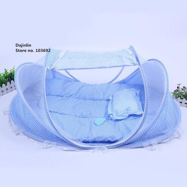 New Spring Winter 0-36 Months Baby Bed Portable Foldable Baby Crib With Netting Newborn Sleep Bed
