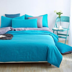 New Style Minimalist Soft and Comfortable Bedding Set Bed Sheet Duver Cover Pillowcase  King Queen - MBMCITY