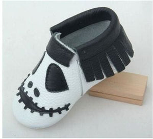 New Stylish Genuine Leather Baby Moccasins Shoes Halloween Presents For Bebe Baby Shoes Newborn Model 3 / 1