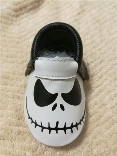 New Stylish Genuine Leather Baby Moccasins Shoes Halloween Presents For Bebe Baby Shoes Newborn Model 1 / 1