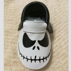 New Stylish Genuine Leather Baby Moccasins Shoes Halloween Presents For Bebe Baby Shoes Newborn