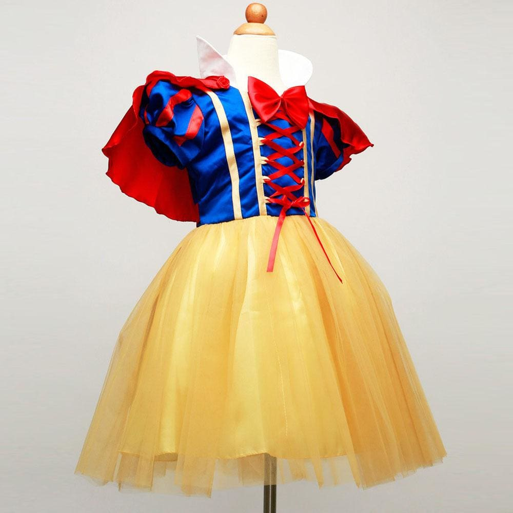 New Summer Girls Snow White Princess Dresses Kids Girls Halloween Party Christmas Cosplay Dresses - MBMCITY