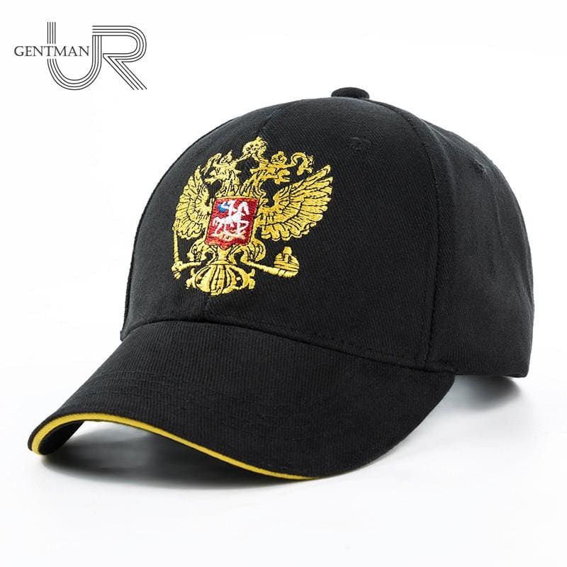New Unisex 100% Cotton Outdoor Baseball Cap Russian Emblem Embroidery Snapback Fashion Sports Hats