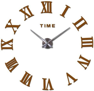New Wall Clock Watch Clocks Reloj De Pared Home Decoration 3D Acrylic Special Diy Sticker Living Chocolate / 47Inch