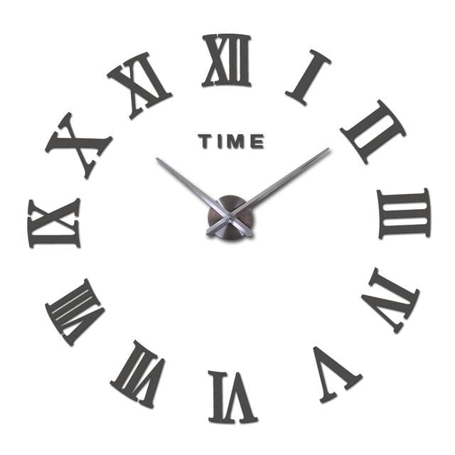 New Wall Clock Watch Clocks Reloj De Pared Home Decoration 3D Acrylic Special Diy Sticker Living Dark Gray / 47Inch