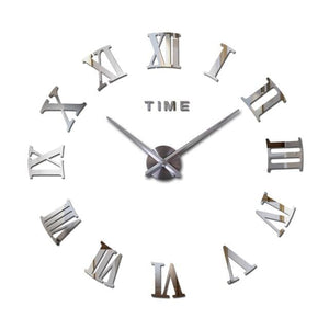 New Wall Clock Watch Clocks Reloj De Pared Home Decoration 3D Acrylic Special Diy Sticker Living Silver / 47Inch