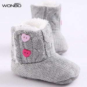 New Winter Super Warm Newborn Girl Baby Prewalker Keep Warm Shoes Boots Infant Toddler Princess Bebe