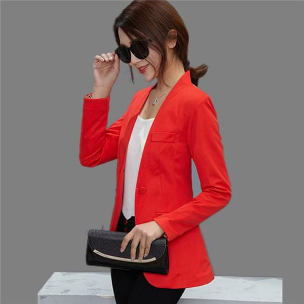 New Women Blazer Spring Slim Top Elegant Double Breasted Short Design Clothes Blazer Suit Female