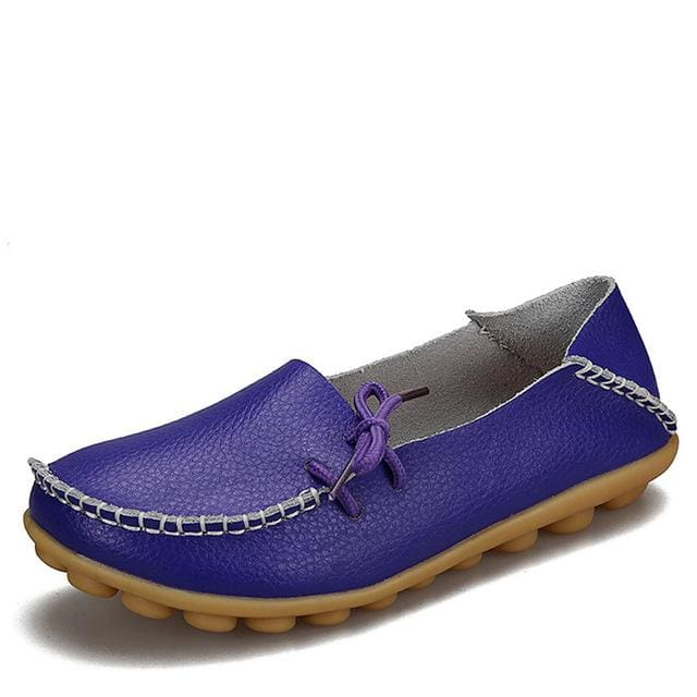New Women Real Leather Shoes Moccasins Mother Loafers Soft Leisure Flats Female Driving Casual - MBMCITY
