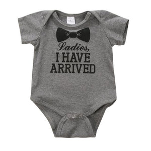 Newborn Letter Print Romper Baby Kids Boys Girls Cotton Clothes Bodysuit Jumpsuit Clothing Outfit Gray / 12M
