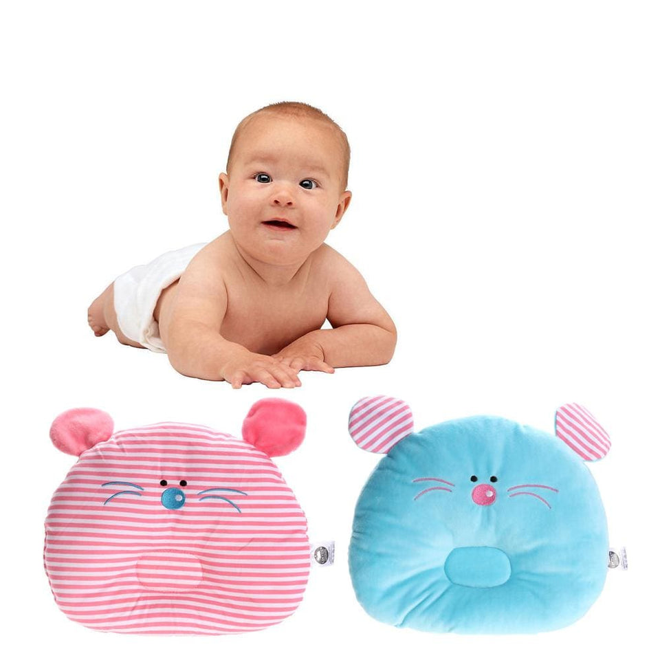 Newborn Pillow Baby Positioner Infant Prevent Flat Mouse Figure Head Pillows House Bedding Soft