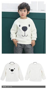 740563fb1 Newborn Winter Warm Thick Fleece Baby Sweaters Infant Cute Cartoon ...