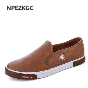 NPEZKGC New arrival Low price Mens Breathable High Quality Casual Shoes PU Leather Casual Shoes Slip