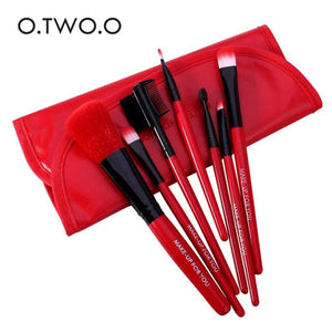 O.TWO.O Makeup Brushes Set 7pcs/lot Soft Synthetic Hair Blush Eyeshadow Lips Make Up Brush With