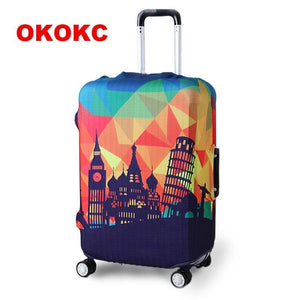 Okokc Thicker Travel Luggage Suitcase Protective Cover For Trunk Case Apply To 19-32 Suitcase