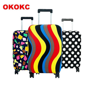Okokc Travel On Road Luggage Cover Protective Suitcase Cover Trolley Case Travel Luggage Dust Cover