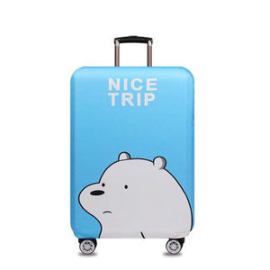 Okokc World Map Elastic Thick Luggage Cover For Trunk Case Apply To 18-32 Suitcase Suitcase