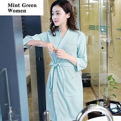 On Sale Lovers Summer Suck Water Kimono Cotton Bath Robe Men Plus Size Sexy Waffle  Bathrobe Mens – MBMCITY 41708a378