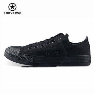 Original Converse All Star Mens And Womens Sneakers For Men Women Canvas Shoes All Black Low
