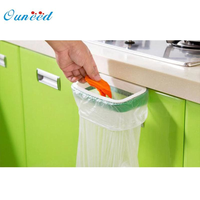 Ouneed Bag Hanging Kitchen Cupboard Door Back Style Stand Trash Garbage Bags Storage Holder Rack - MBMCITY