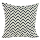 Pillow Case Black And White Pattern Pillowcase Cotton Linen Printed 18X18 Inches Geometry Euro 21 / 45X45Cm