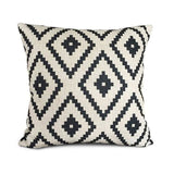 Pillow Case Black And White Pattern Pillowcase Cotton Linen Printed 18X18 Inches Geometry Euro 22 / 45X45Cm