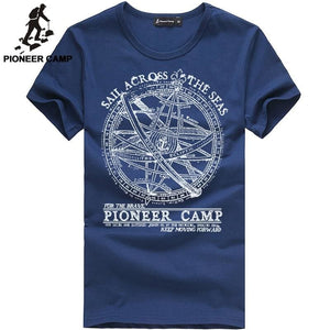 Pioneer Camp 2018 short sleeve t shirt men fashion brand design 100% cotton T-shirt male quality