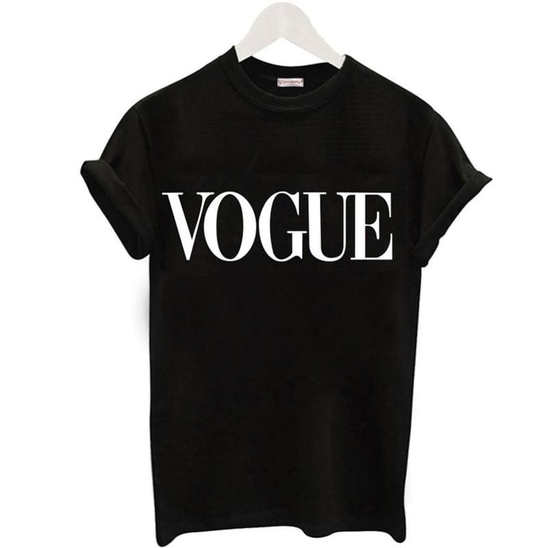 Plus Size S-XL Harajuku Summer T Shirt Women New Arrivals Fashion VOGUE Printed T-shirt Woman Tee