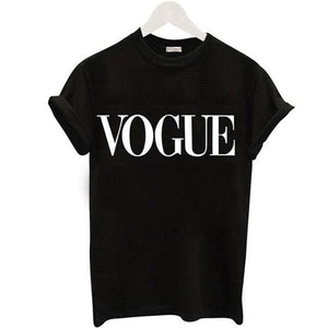 Plus Size S-XL Harajuku Summer T Shirt Women New Arrivals Fashion VOGUE Printed T-shirt Woman Tee Women T Shirt 1 / S