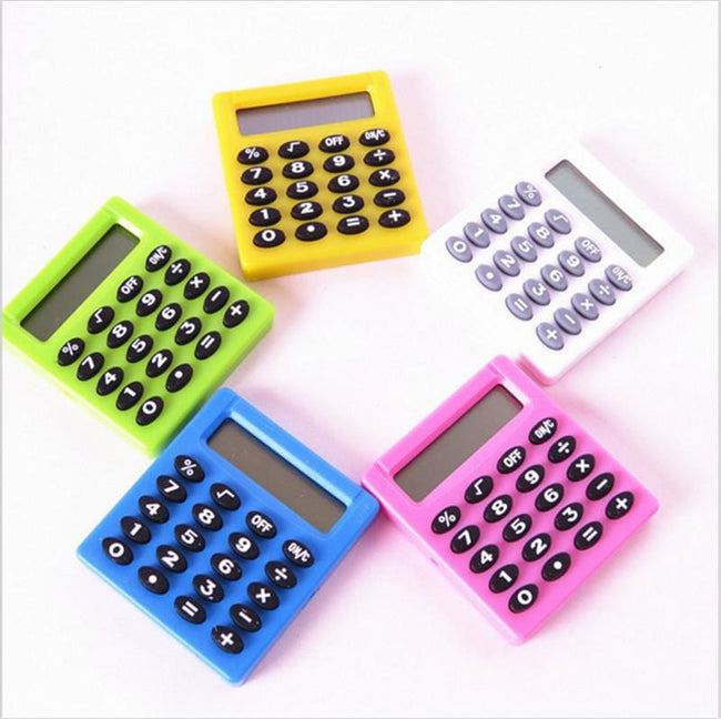 Pocket Cartoon Mini Calculator Ha ndheld Pocket Type Coin Batteries Calculator carry extras - MBMCITY