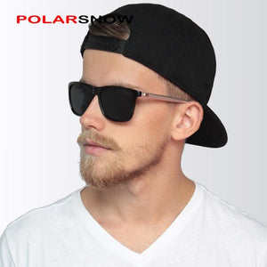 POLARSNOW Aluminum+TR90 Sunglasses Men Polarized Brand Designer Points Women/Men Vintage Eyewear