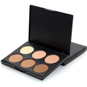 popfeel Nude Color Concealer Bronzer Powder Palette Brightener Foundation Shimmer Face Highlighter
