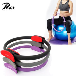 Povit Pilates Ring Magic Yoga Circle Eva Foam Padded Handles Pilates Ring For Muscles Body Exercise