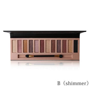 Pro 12 Colors Shimmer Or Matte Eyeshadow Makeup Palette Long Lasting Eye Shadow Natural Eyeshadow C Mix