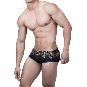 New Swimwear Floral Men's Swimming Trunks for Sunbath Low Waist Sexy Swim Shorts Men's Swimsuit Hot - MBMCITY