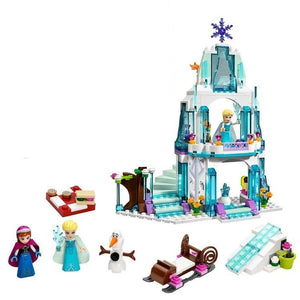 Ice Castle Princess Anna and Ariel Little Mermaid Figures Building Blocks Educational Toys Compatible Legoings Girl Friends