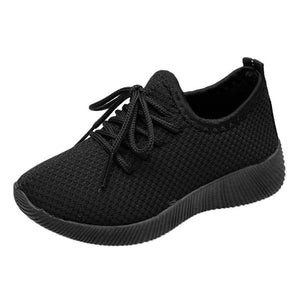Children Mesh Shoes Sneakers Infant Kids Baby Breathable Lace-Up Flat Shoes Girls Boys Solid Sport Running Sneakers Casual Shoes