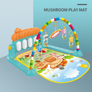Huanger Baby Activity Gym Soft Play Mat Water Carpet for Baby Pig Music Crawling Developing Fitness Rack Rug Kid Infant Tapi Toy - MBMCITY