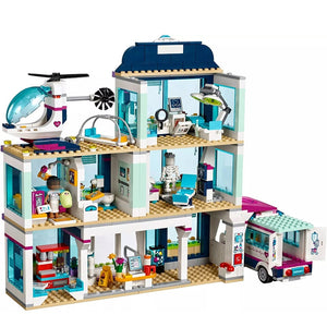 Friends City Heartlake Hospital Ambulance Block Set Princess Undersea Palace Compatible with Legoinglys Friends Girls Toys
