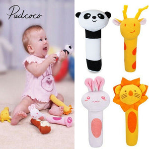 2019 Baby Classic Toys Animal Handbells Developmental Toys Bed Bells Kids Baby Soft Toys Rattle Lovely Soft Mobiles - MBMCITY