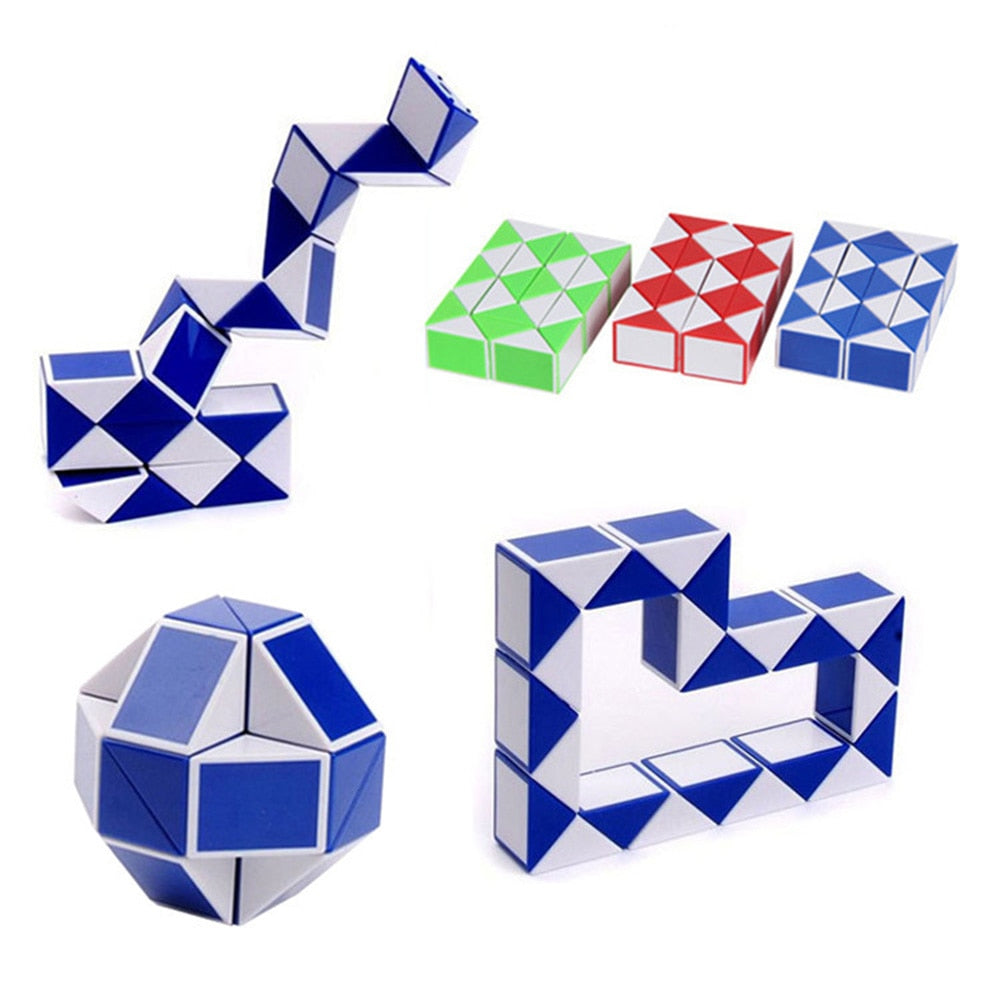 1pc Mini Snake Speed Cubes Strange-shape Magic Cube Puzzle Ruler Twist Educational Funny Toys For Children Free shipping - MBMCITY