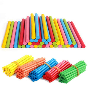 100pcs Kids Toys Colorful Wooden Counting Sticks Montessori Education Teaching Aids Children Counting Rod Preschool Math Toys - MBMCITY