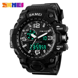 Fashion Sport Super Cool Men's Quartz Digital Watch Men Sports Watches SKMEI Luxury Brand LED Military Waterproof Wristwatches - MBMCITY