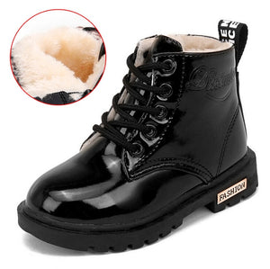 SKOEX Children's Boots Waterproof Boys Girls Martin Boots Winter Kids Snow Boots Ankle Short Booties Child Fashion Sneakers
