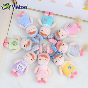 Metoo Doll Stuffed Toys Plush Animals Soft Baby Boy Kids Toys for Children Girls Boys Kawaii Mini Angela Rabbit Pendant Keychain - MBMCITY