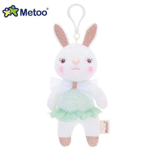 Metoo Doll Stuffed Toys Plush Animals Soft Baby Boy Kids Toys for Children Girls Boys Kawaii Mini Angela Rabbit Pendant Keychain