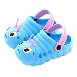 Kid Summer Breathable Caterpillar Sandals Slippers Caterpillar Cartoon Anmial Sandals Boys  Girls Beach Hole Baby Outdoor Shoes - MBMCITY