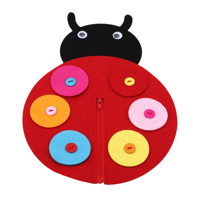 Hand Zipper Button Teaching Kindergarten Manual Diy Weave Cloth Early Learning Education Toys Montessori Teaching Math Toys - MBMCITY