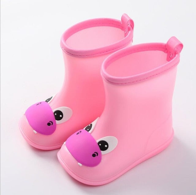 New Fashion Classic Children's Shoes PVC Rubber Kids Baby Cartoon Shoes Children's Water Shoes Waterproof Rain Boots