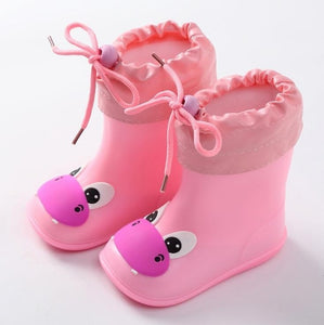 New Fashion Classic Children's Shoes PVC Rubber Kids Baby Cartoon Shoes Children's Water Shoes Waterproof Rain Boots - MBMCITY